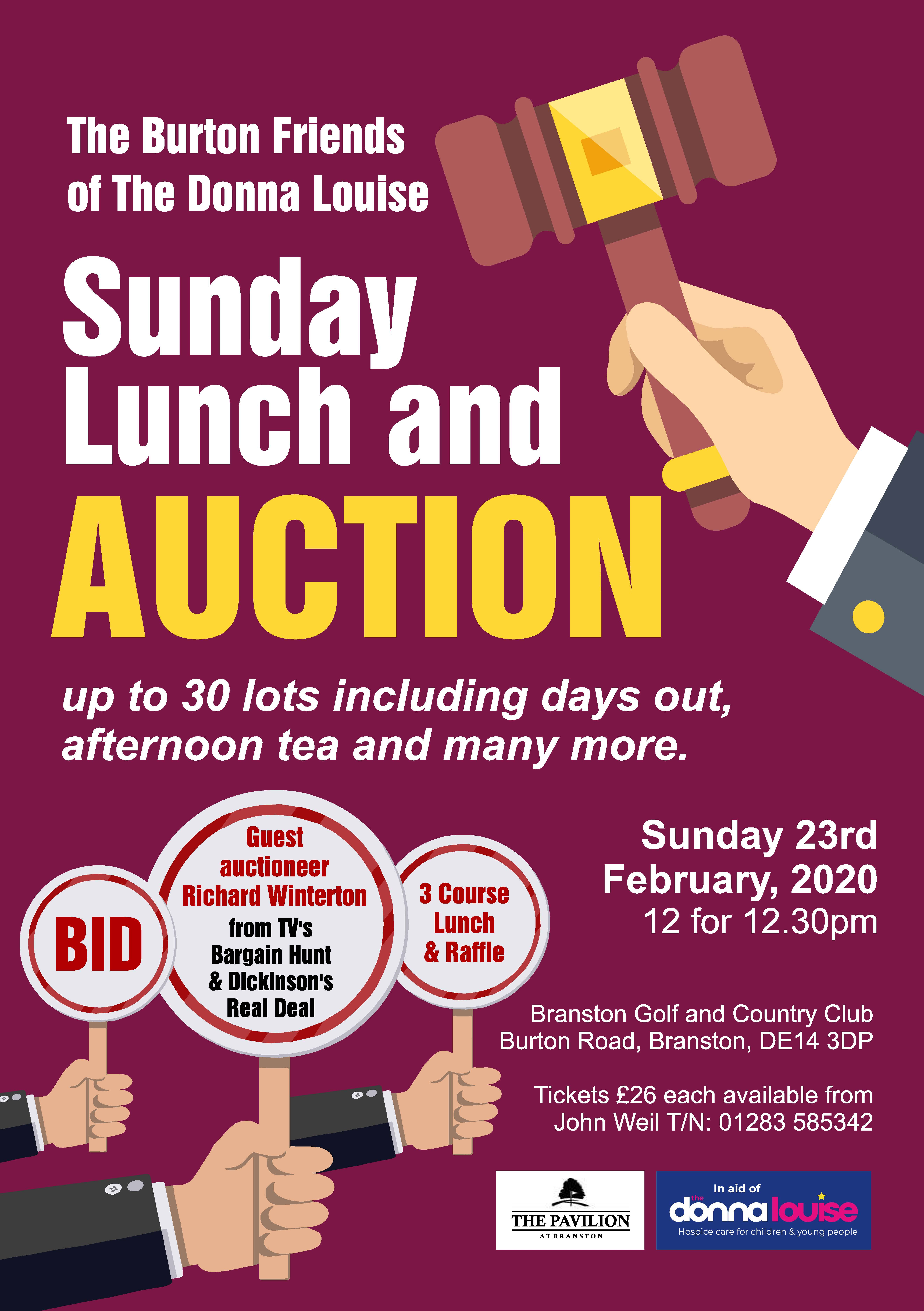 Sunday Lunch Auction 2020