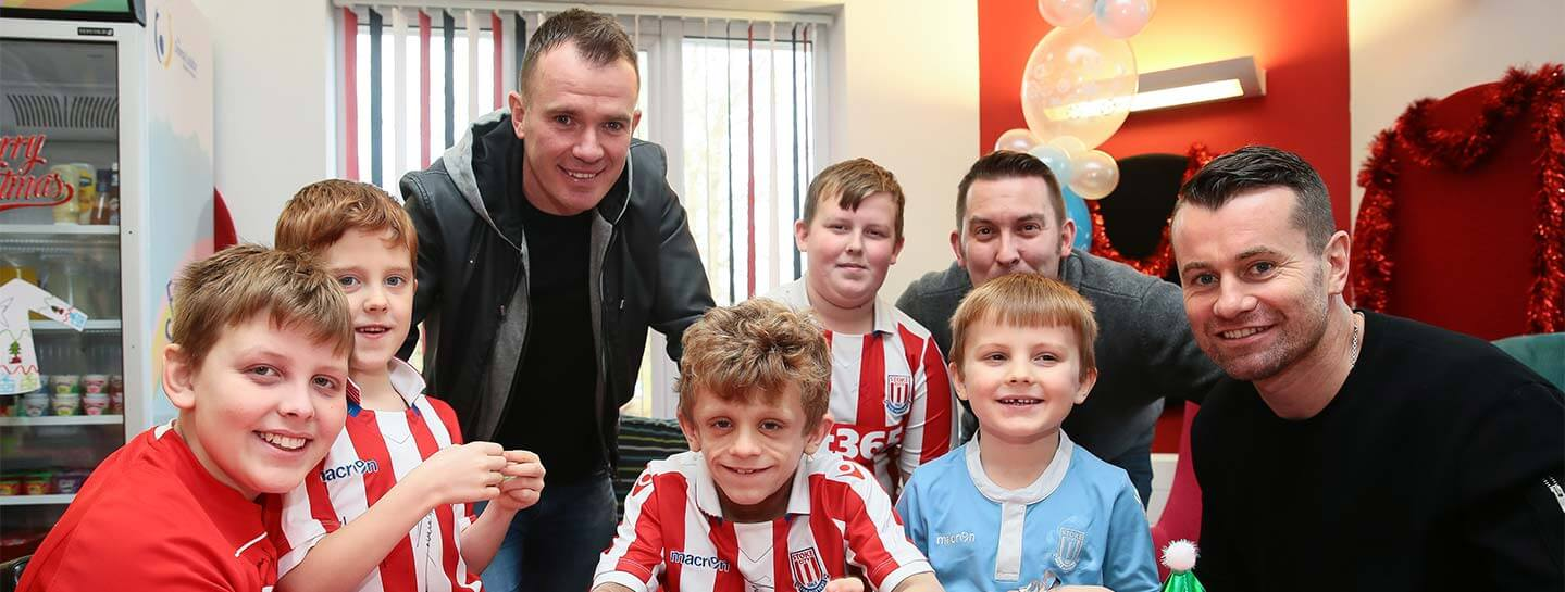 Stoke players at DLT