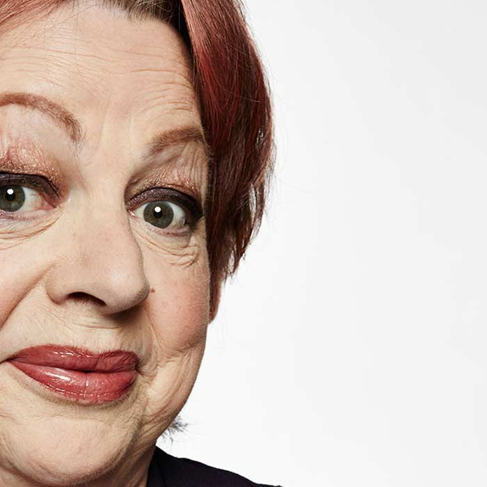 jo brand face closeup
