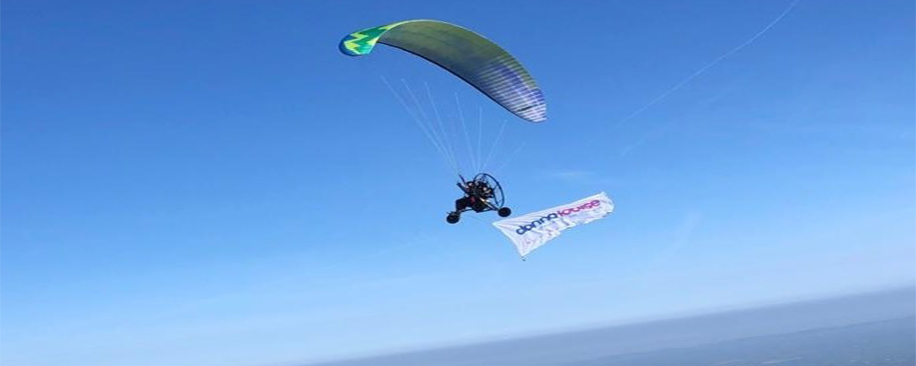 James Du Pavey takes to the skies to raise £10k for The